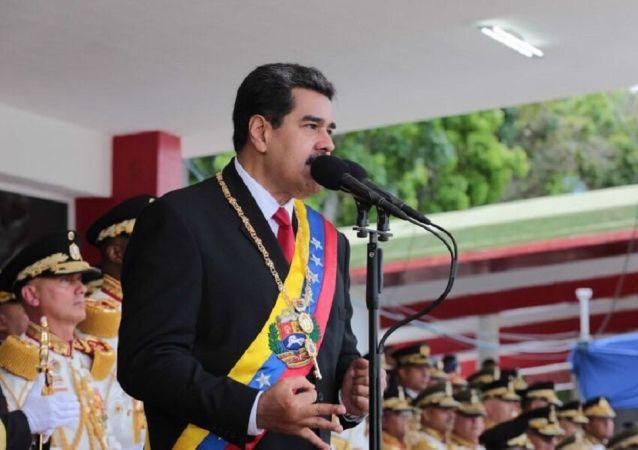 Nicolás Maduro, presidente venezolano, durante la Celebración del Día de la Independencia de Venezuela