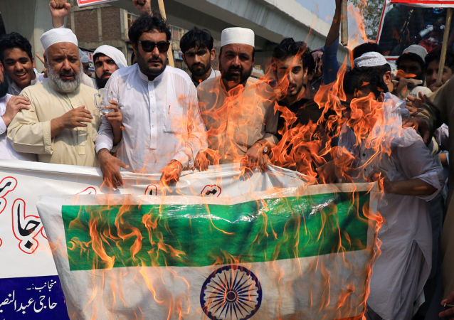 Protesta contra La India en Pakistán (archivo)