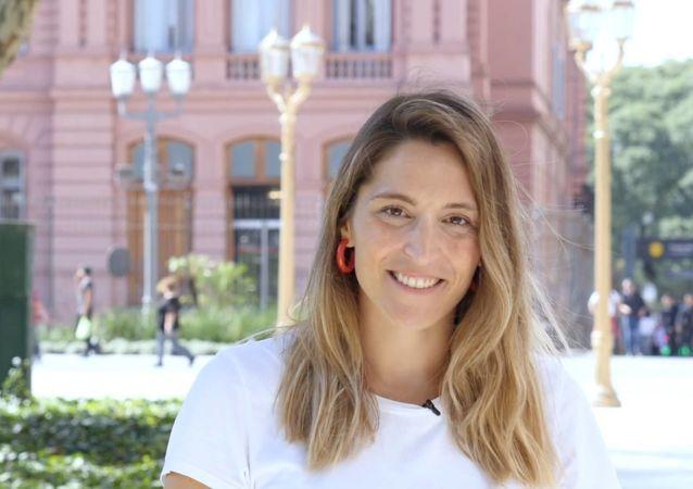 Manuela Castañeira es la única mujer candidata a la presidencia de Argentina