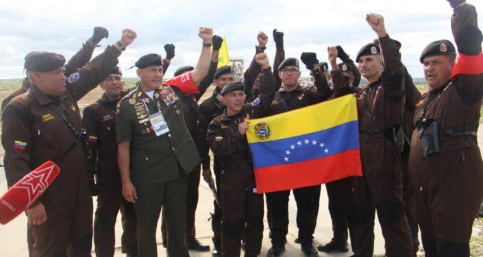 Delegación venezolana en los Juegos Militares Internacionales Army 2019