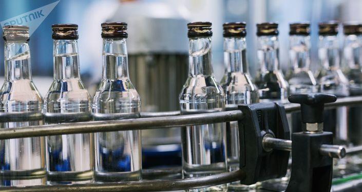 Unas botellas de vodka