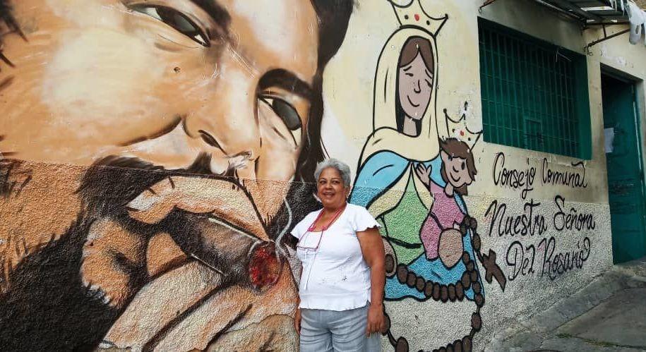 Comunera del barrio caraqueño Altos de Lídice, en Venezuela