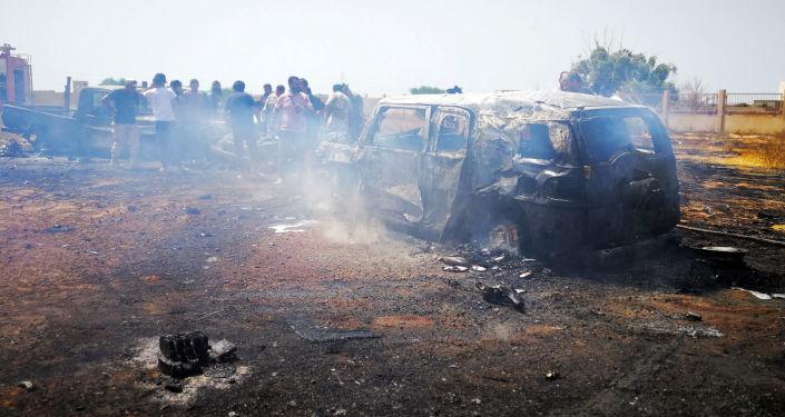 Explosión de coche bomba en Bengasi, Libia (archivo)