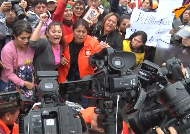Los opositores y partidarios de Keiko Fujimori se echan a las calles de Perú
