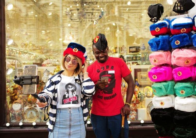Turistas extranjeros en Moscú (imagen referencial)