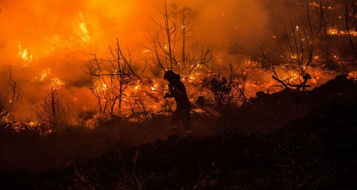 Los incendios en la isla griega de Eubea