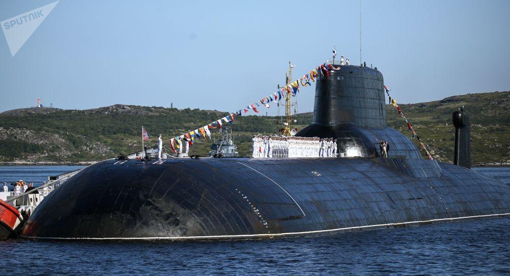 Submarino da Armada russa da Classe Akula 'Dmitri Donskoy'