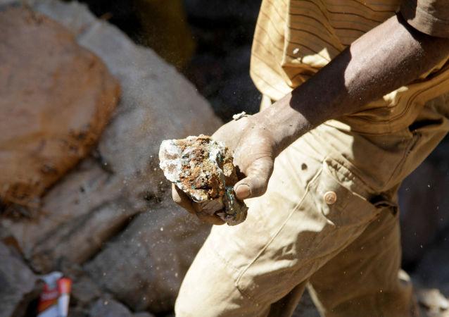 Un minero de cobalto en la República Democrática del Congo