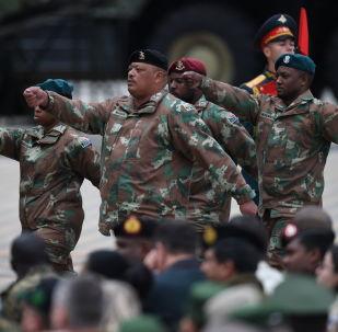 Militares de Sudáfrica durante los Juegos Militares Internacionales Army 2019
