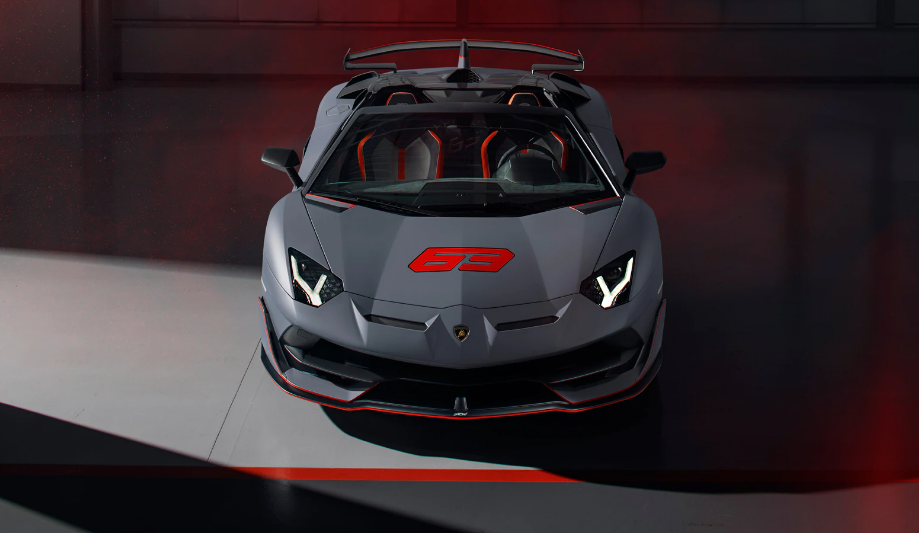 La parte frontal del nuevo descapotable de Lamborghini