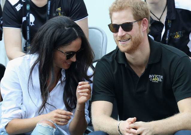 Meghan Markle, duquesa de Sussex, y el príncipe Harry (archivo)