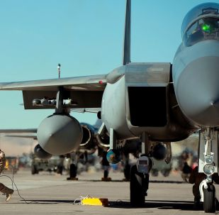 Un F-15 de la Fuerza Aérea de Arabia Saudí
