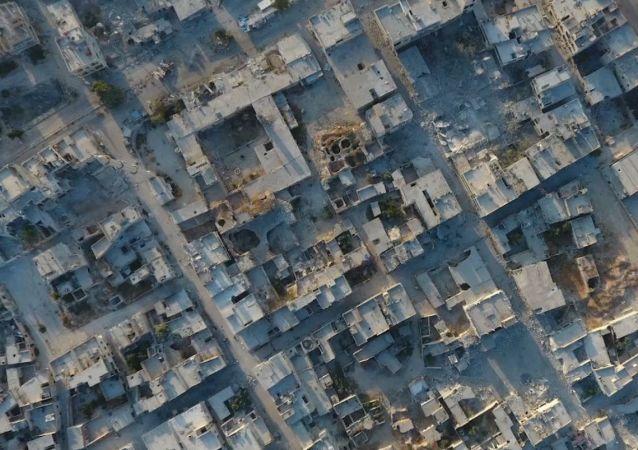 Ciudad de Jan Sheijun trás la retirada de los terroristas