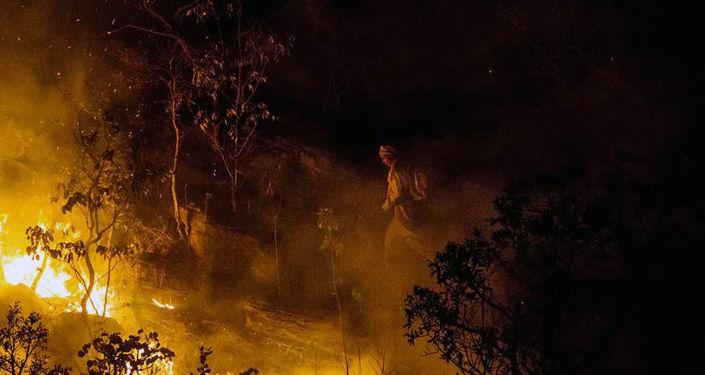 Incendios forestales en Brasil, foto de archivo
