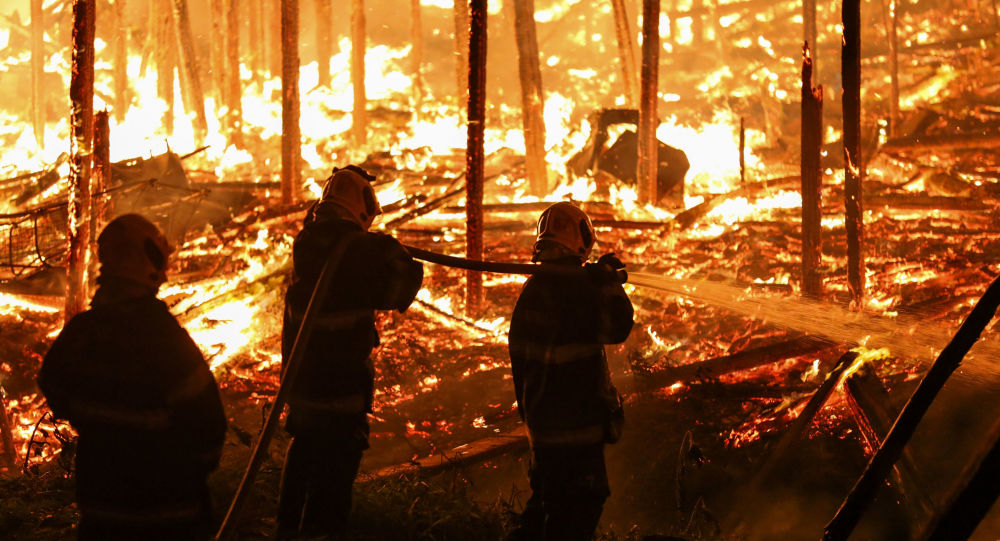 Incendio en Brasil (archivo)