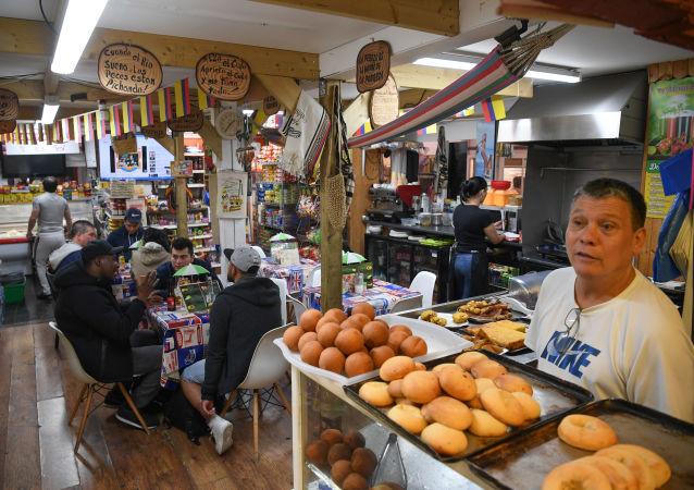 Una panadería latina en el distrito Seven Sisters, Londres