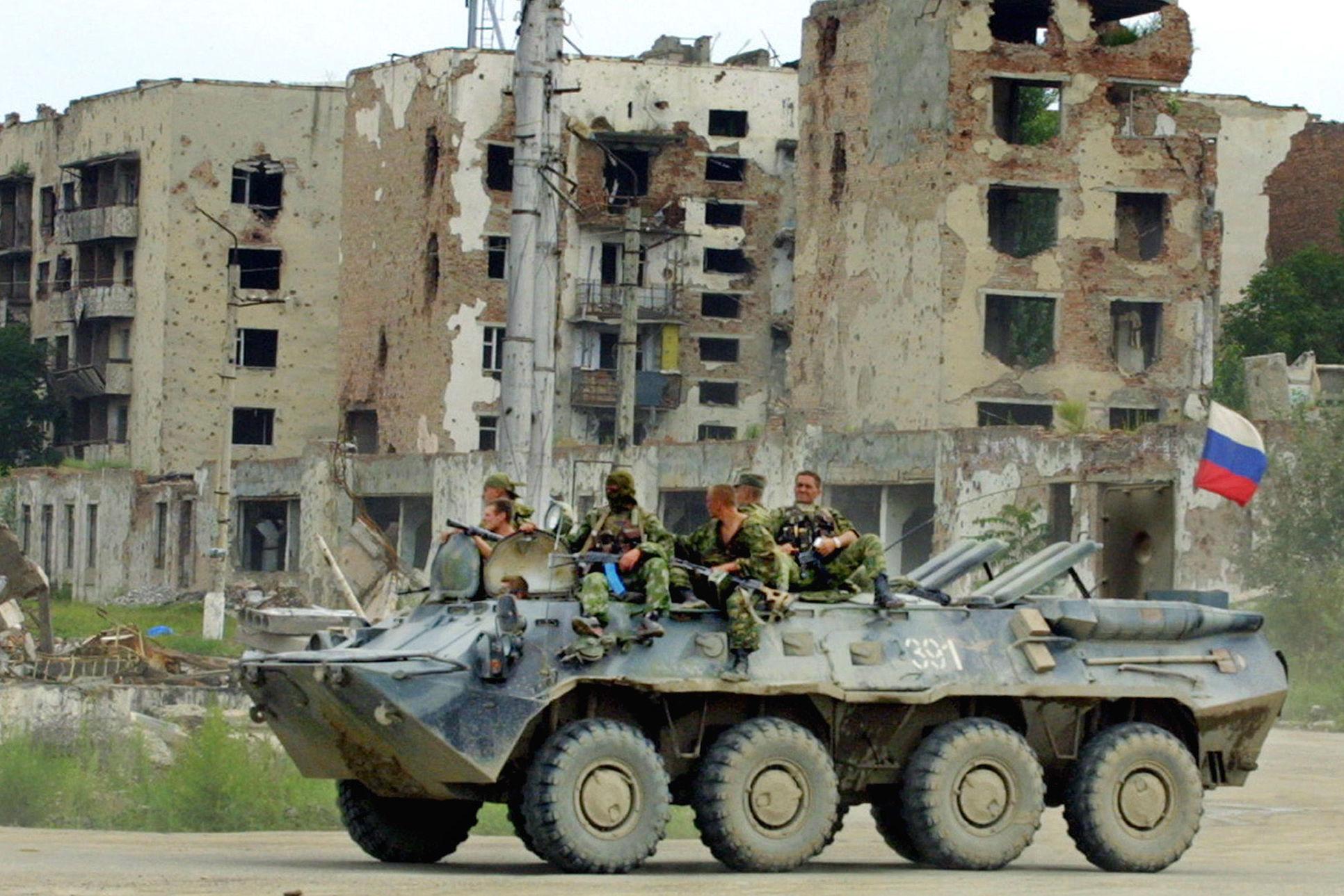 La capital de Chechenia, Grozni, en 2004