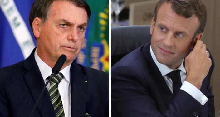 Jair Bolsonaro, presidente de Brasil, y Emmanuel Macron, presidente de Francia