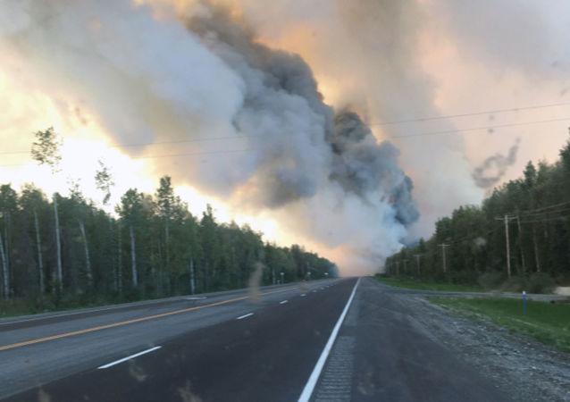 Incendio forestal en Alaska