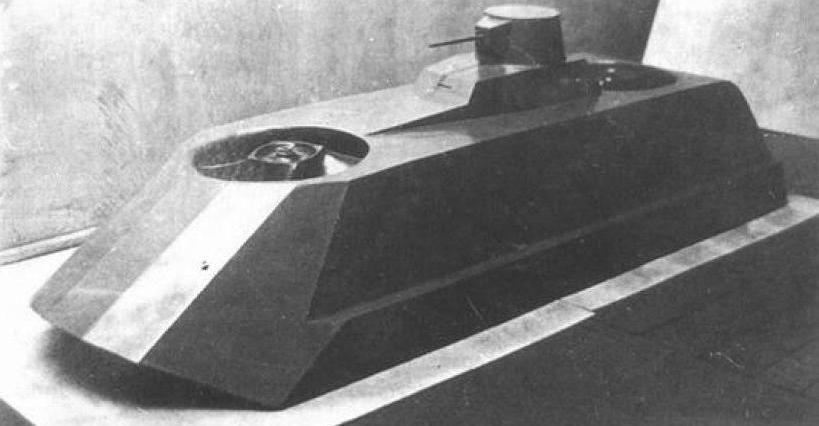 El tanque deslizador anfibio