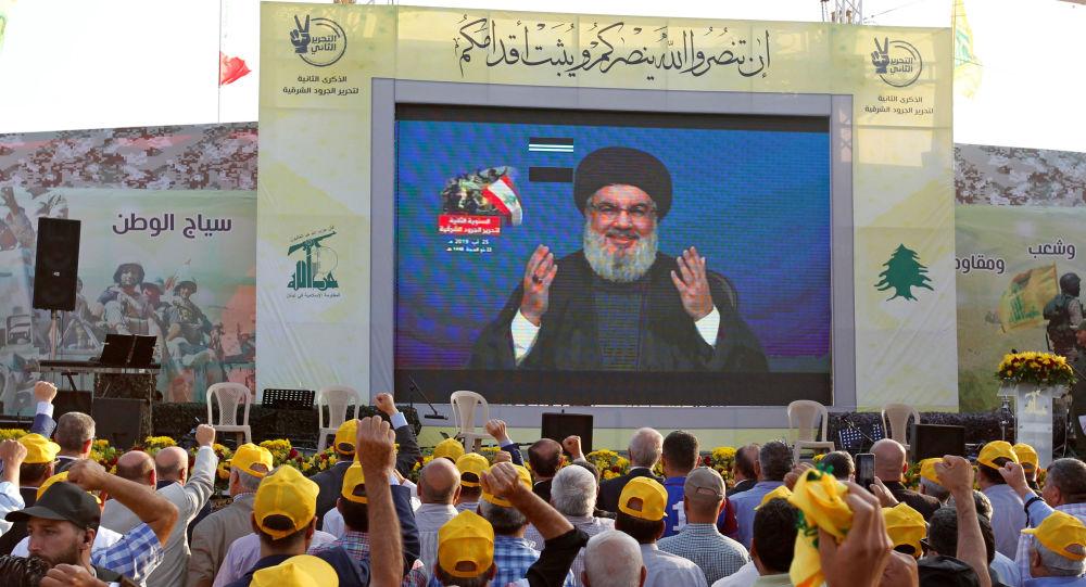 El líder del grupo chií libanés Hizbulá, Hasán Nasralá