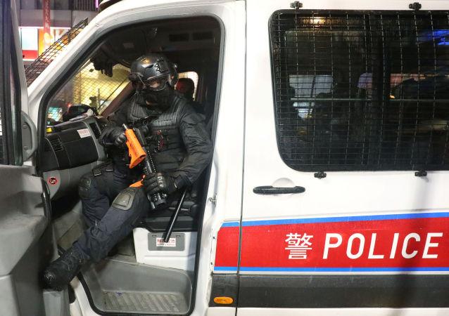 Policía antidisturbios de Hong Kong