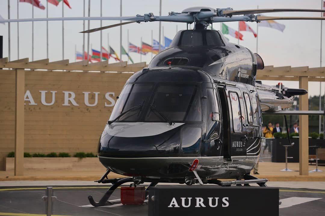 El lujoso helicóptero Ansat en el Salón Aerospacial MAKS 2019