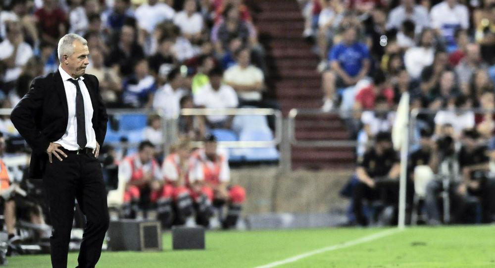 Javier Aguirre, entrenador del club Zaragoza, en 2011