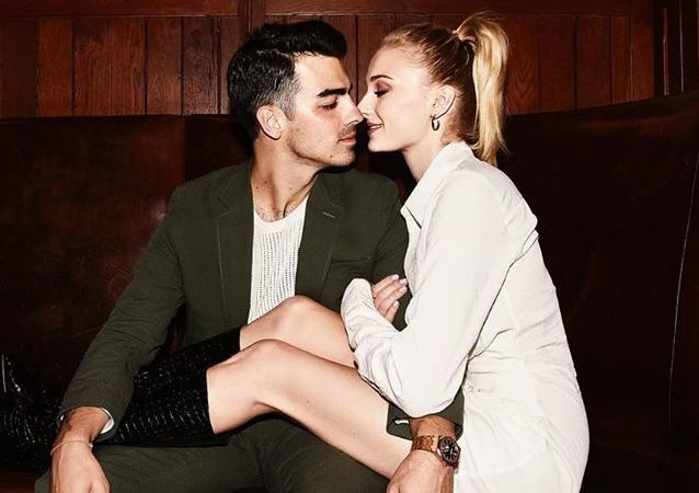 Sophie Turner junto a su esposo, Joe Jonas