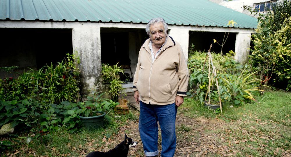 El expresidente uruguayo José Mujica con su perra Manuela (archivo)