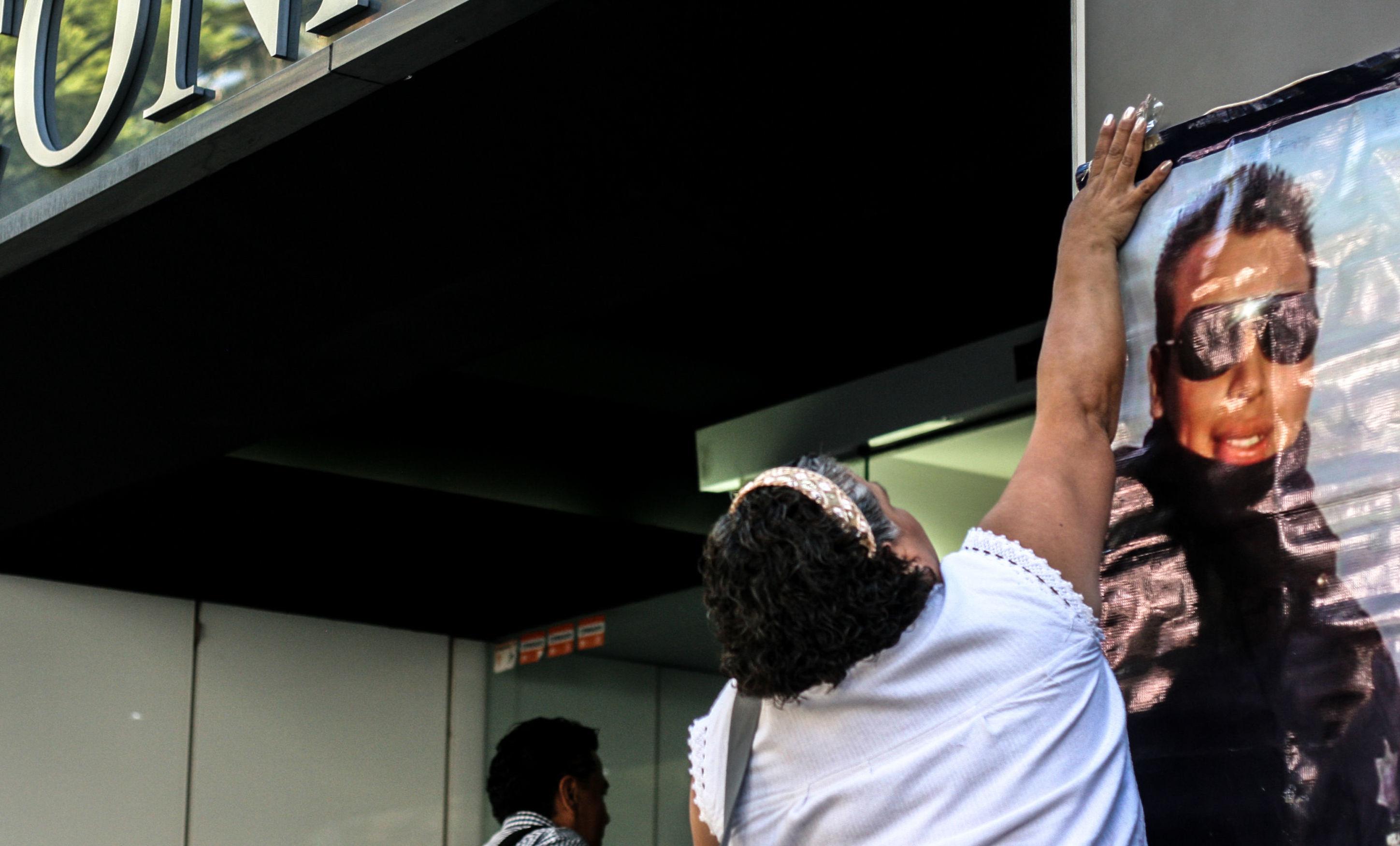 Patricia Manzanares durante la clausura simbólica de la Comisión Nacional de Búsqueda, en la ciudad de México, durante el día internacional de las víctimas de desaparición forzada.