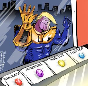 Irán llama a Trump a dejar de imitar al supervillano Thanos