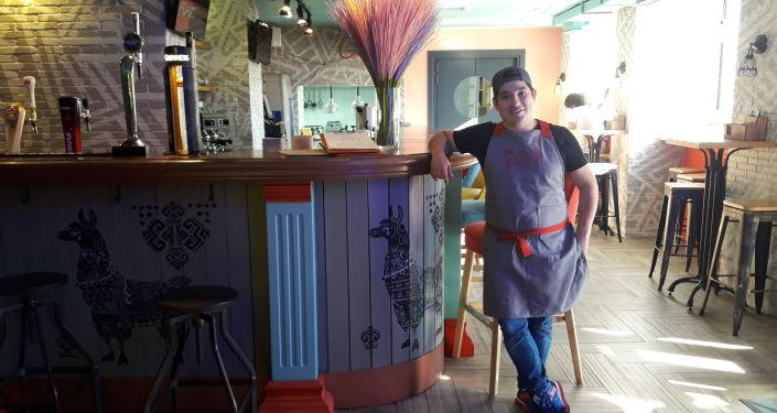 Orlando Baldeón en el restaurante 'Lima'