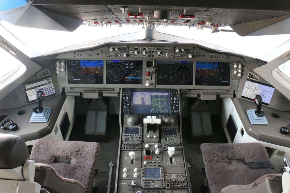 El interior del avión comercial CR929