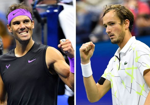 Rafael Nadal y Daniil Medvédev