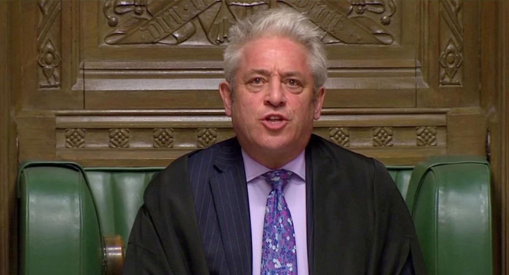 John Bercow, el presidente de la Cámara de los Comunes de Westminster