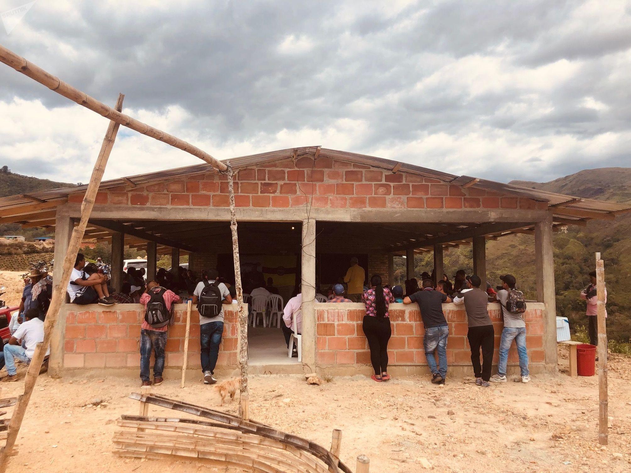 La casa donde se realizó la Asamblea de Campesinos en la Vereda La Independencia
