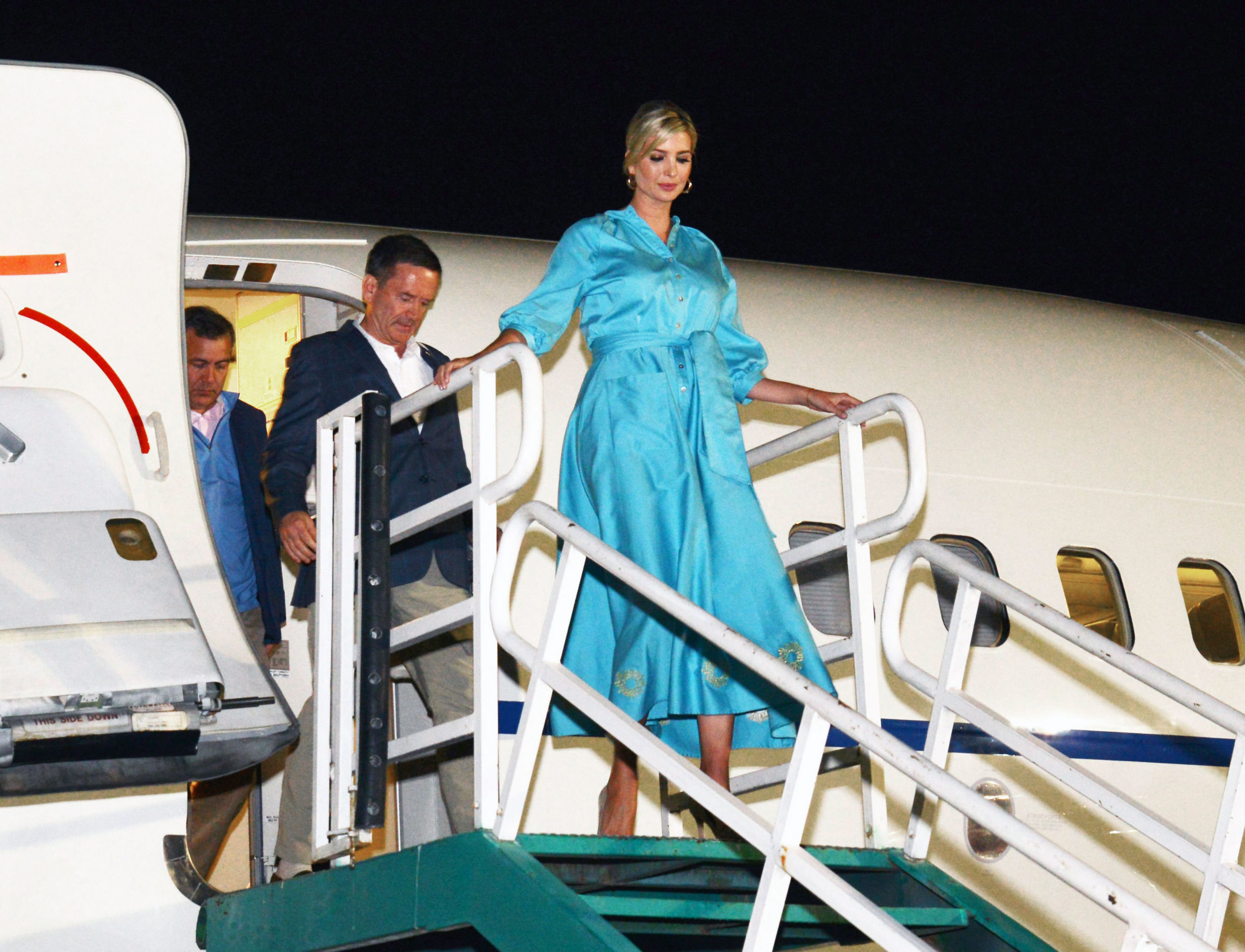 Ivanka Trump a su llegada a la provincia de Jujuy, al noroeste de Argentina