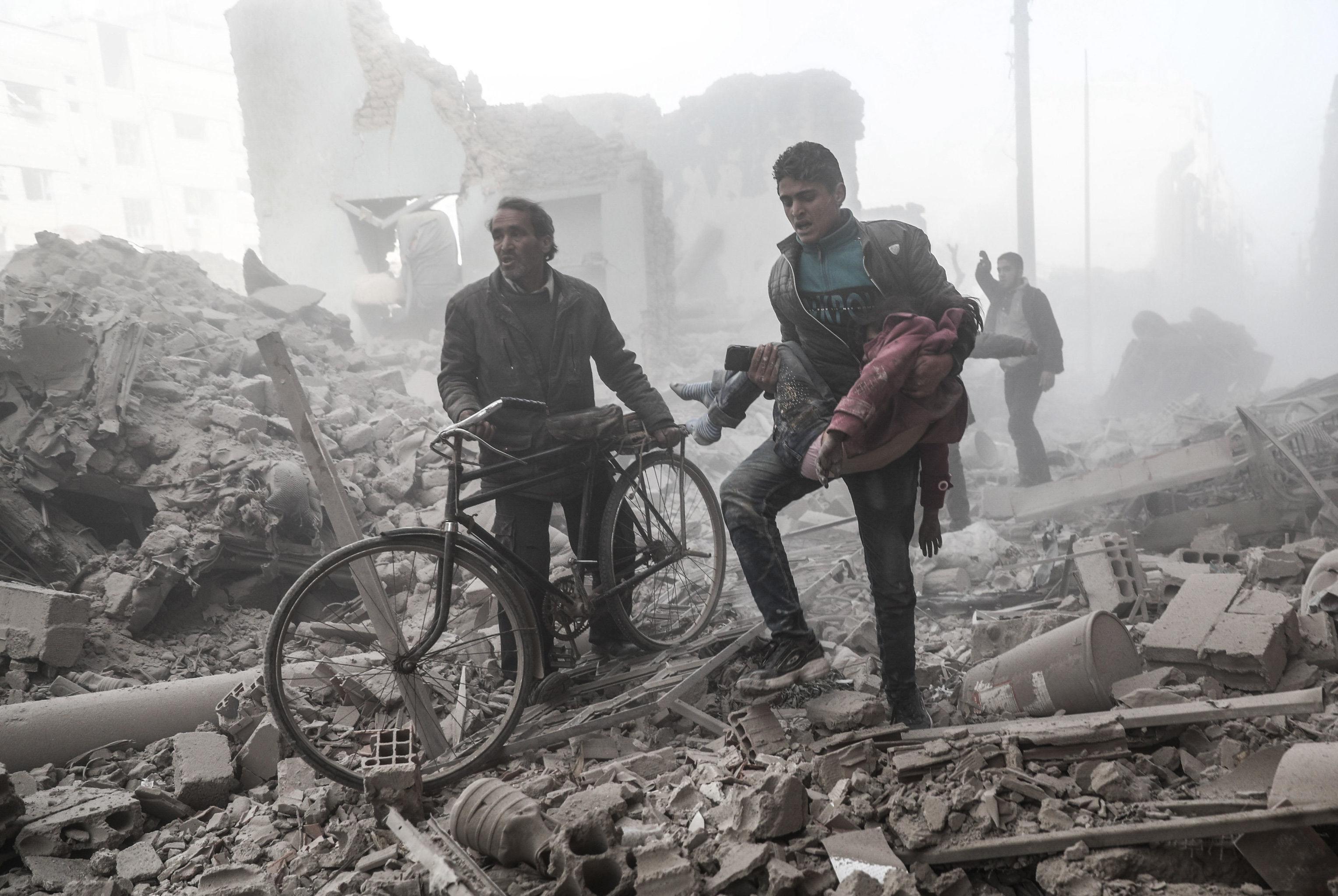 'De un conflicto a otro. Siria' por Sameer Doumi. Primer puesto en la categoría 'Las noticias más importantes'
