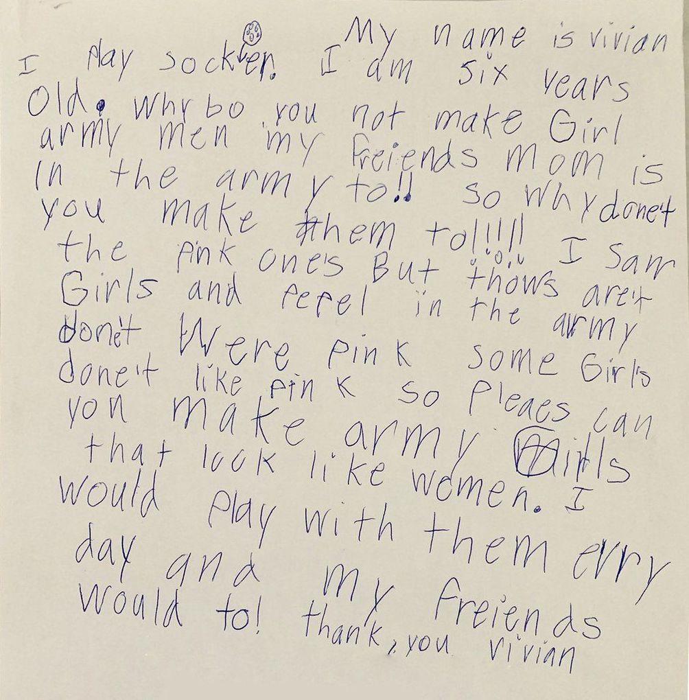 Carta de Vivian a BCM Toys