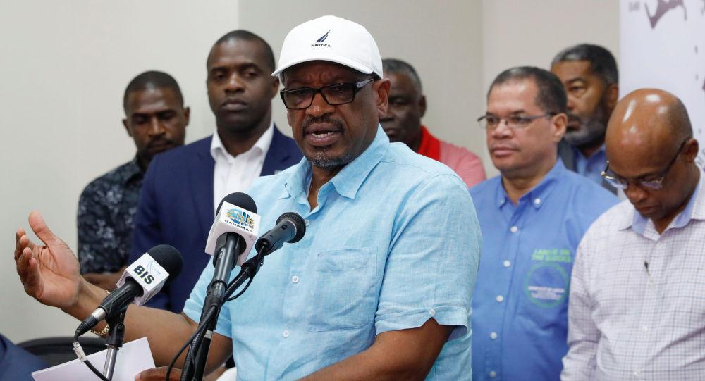 El primer ministro de Bahamas, Hubert Minnis