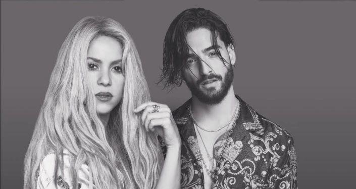 Shakira y Maluma posan para su tema 'Clandestino'