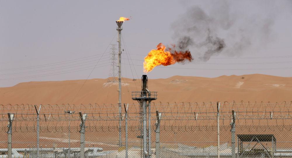 Un intalación petrolera de la empresa Saudi Aramco