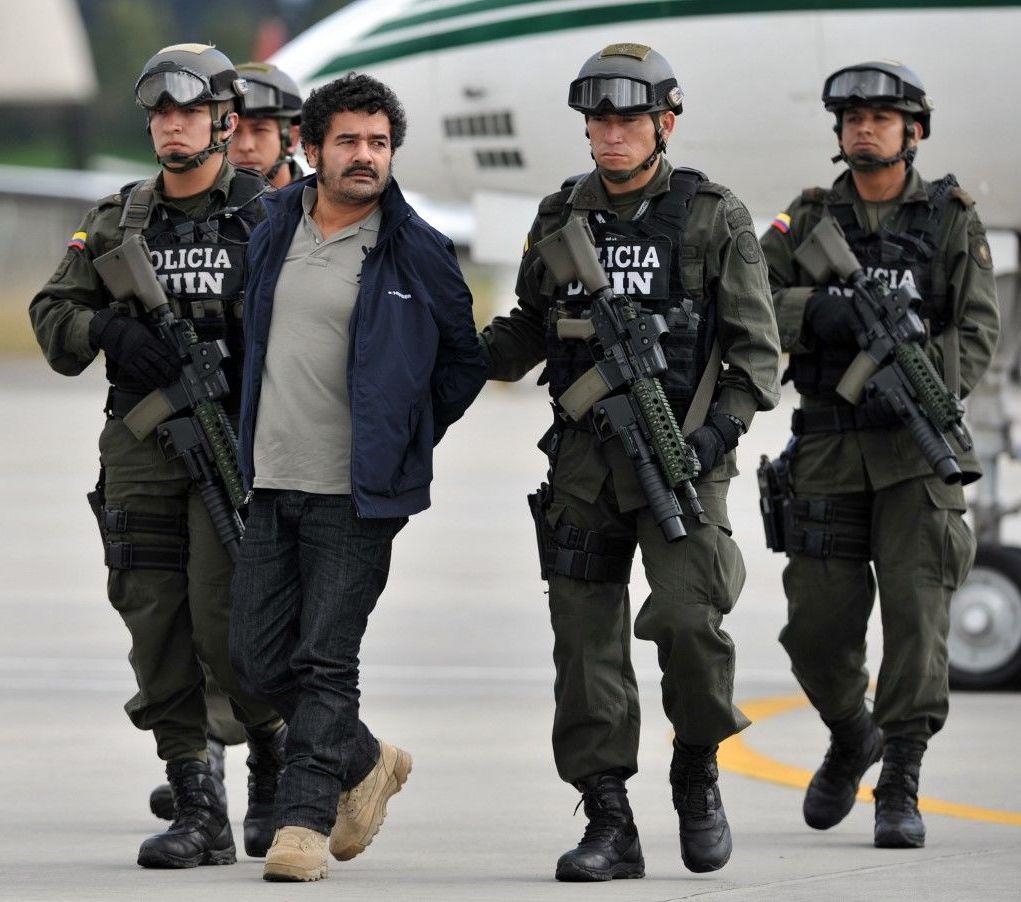 Diego Pérez Henao, alias 'Diego Rastrojo', detenido por la Policía colombiana en 2012