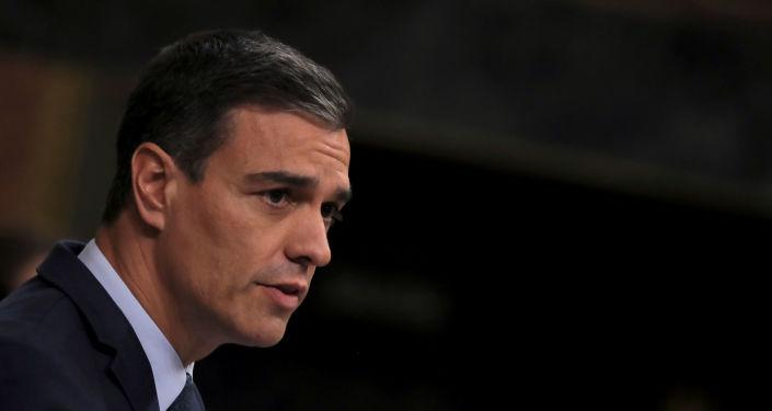 Pedro Sánchez, presidente interino del  de España (archivo)