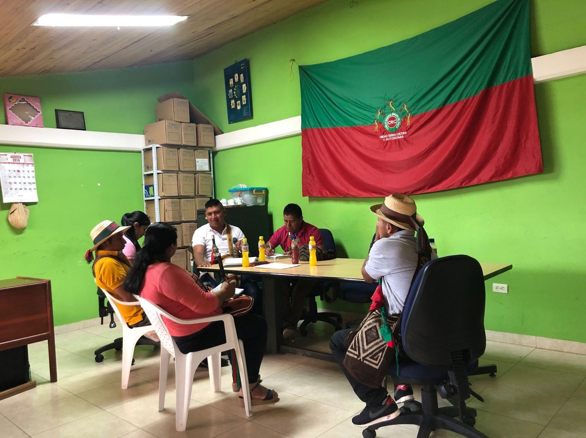 La oficina de autoridades indígenas en el resguardo del municipio Caldono