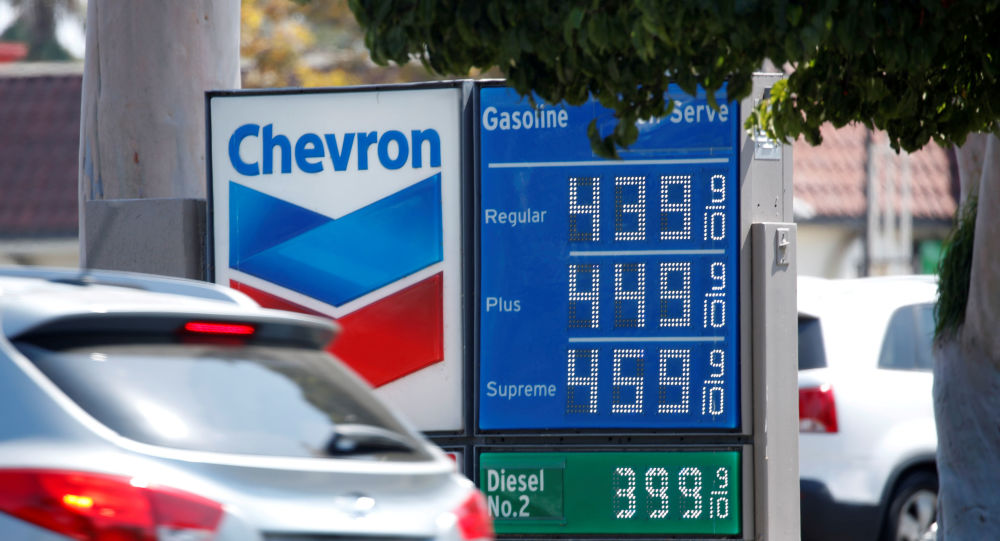 El prescio de gasolina, California, EEUU
