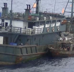 Revelan un vídeo de la detención de los buques norcoreanos de pesca furtiva en Rusia