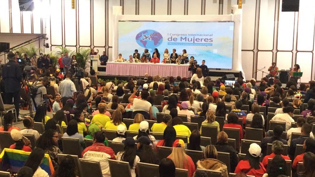 El I Congreso Internacional de Mujeres celebrado en Caracas, el 20 de septiembre de 2019