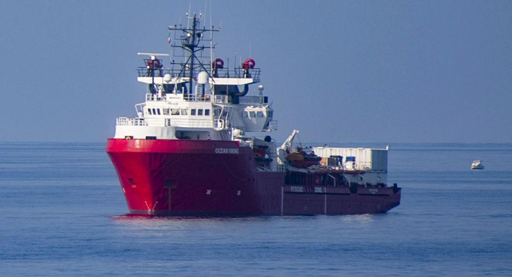 El barco de rescate Ocean Viking